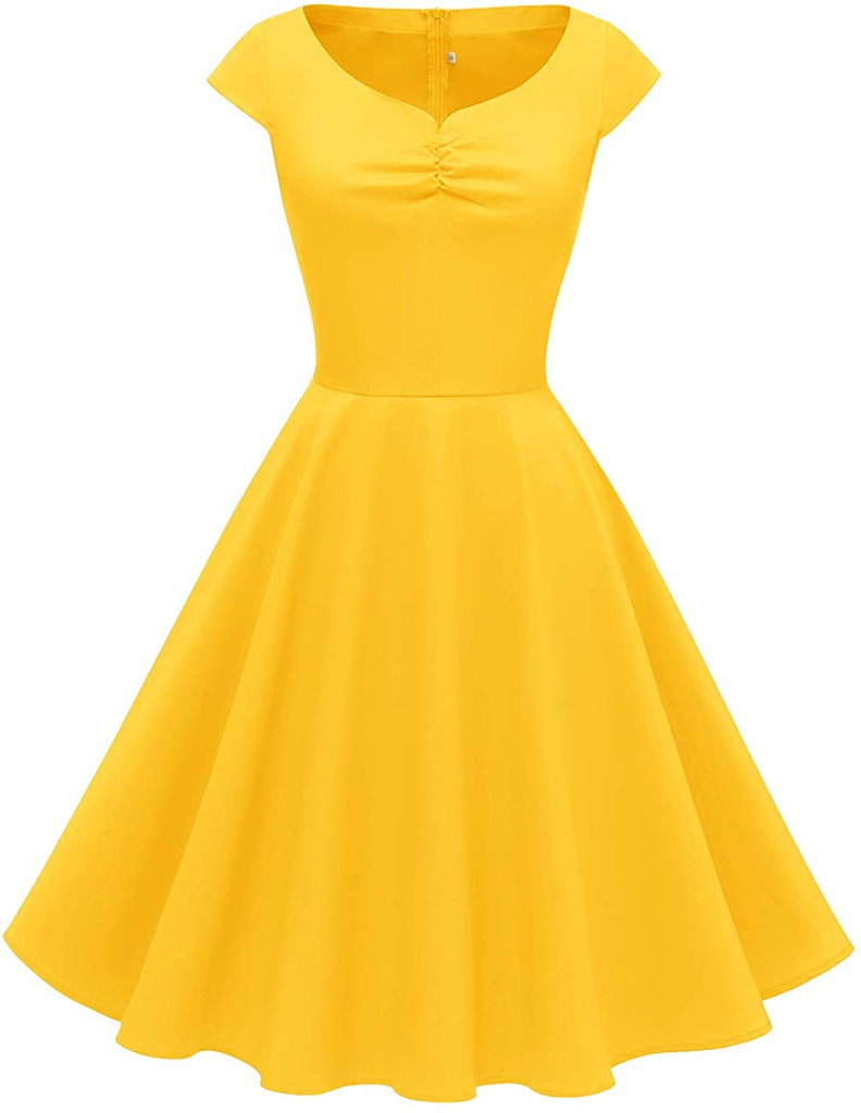 Women Vintage Tea Dresses Prom Party Cocktail Dress Polka Dot Swing Dress