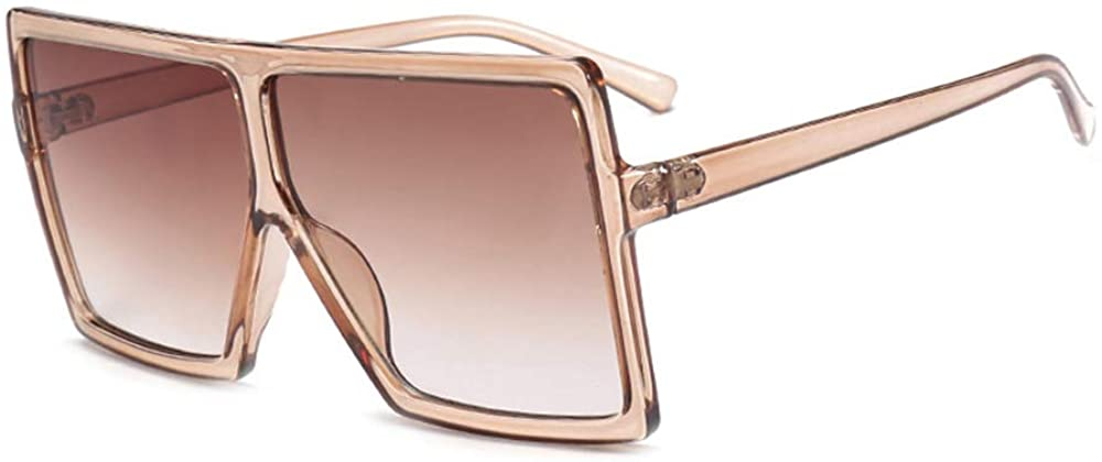 Oversized Sunglasses for Women, Square Flat Top Fashion Shades