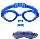 Swim Goggles, Nose Piece Replaceable Swimming Goggles with Flat Lens for Men Women Adult Youth Kids Children