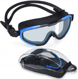 Swim Goggles, No Leaking Anti-Fog Indoor Outdoor Swimming Goggles with UV Protection Mirrored Clear Lenses  (CL-Black)