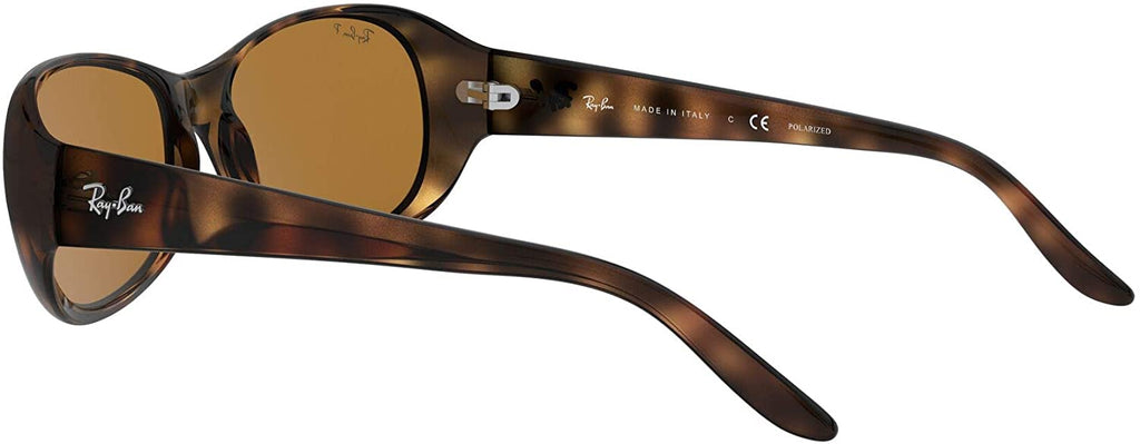 Women's Oval Sunglasses, Tortoise/Polarized Brown, 55 mm