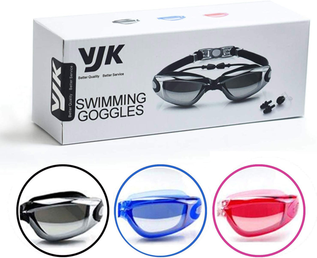 Swimming Goggles No Leaking Anti Fog UV Protection Triathlon Swim Goggles with Free Earplugs and Nose Clip