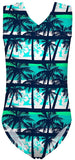 One Piece Swimsuits for Girls Soft Yoga Bodysuits Swimwear for Kids Funky Hawaiian 3D Print