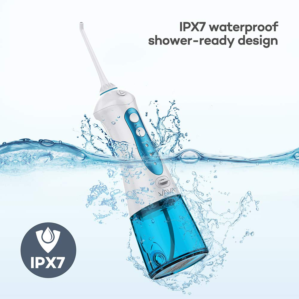Water Flosser Professional Cordless Dental Oral Irrigator with 3 Modes, Portable and Rechargeable Teeth Cleaner, IPX7 Waterproof with 200ML Water Tank