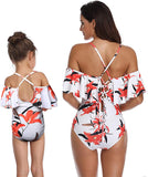 Family Matching Swimsuit Girls Swimwear Mother and Daughter Swimwear