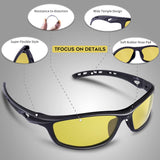 Polarized Sports Sunglasses for Women Men Driving shades Cycling Running