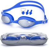 Swim Goggles, Swimming Goggles Anti Fog UV Protection No Leaking Triathlon Swim Goggles with Nose Clip, Ear Plugs