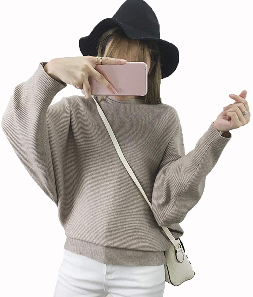 Women Sweaters Batwing Sleeve Casual Cashmere Jumpers Winter Pullovers