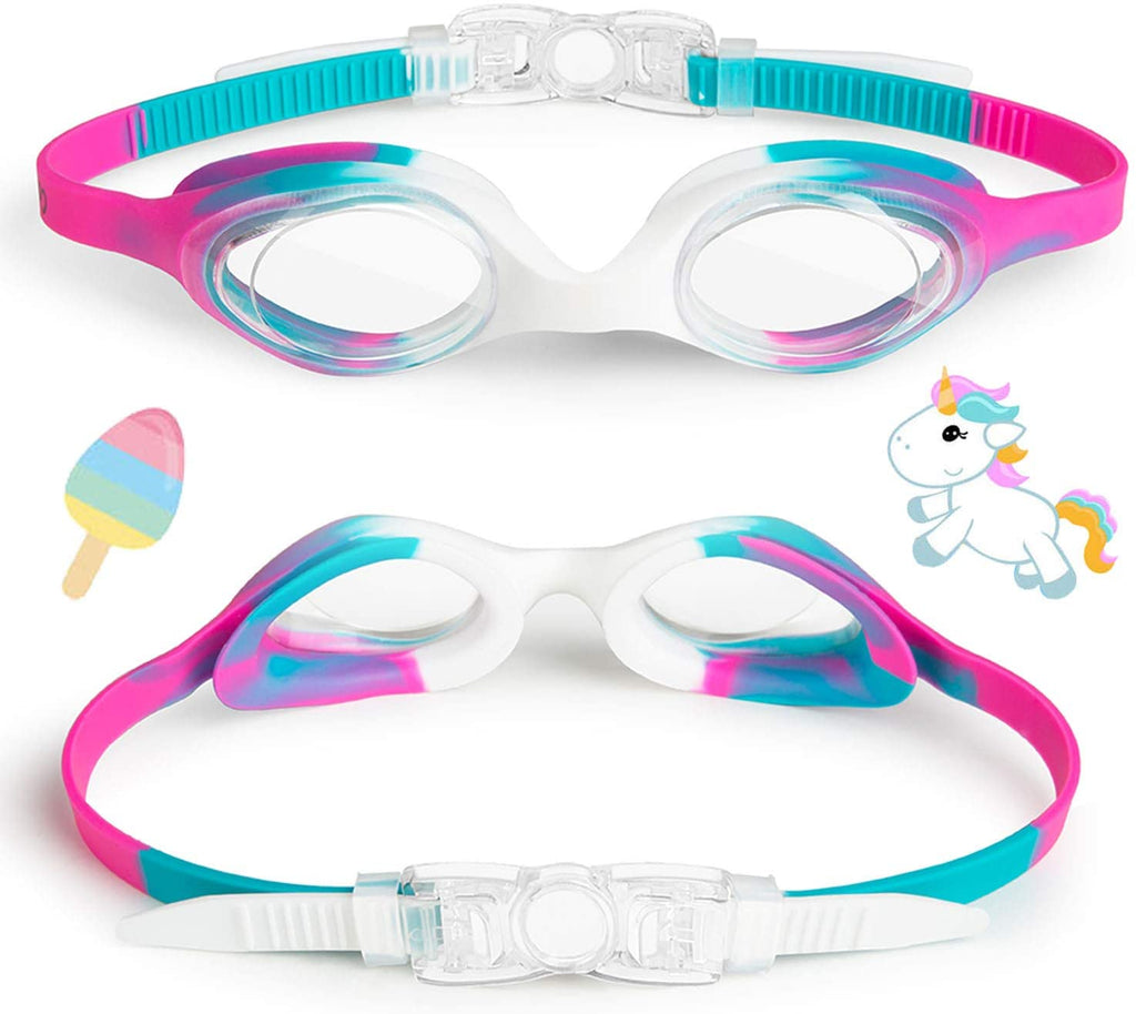Kids Swim Goggles, Swimming Goggles for Boys Girls Kids Age 3-12 Child Toddler Swim Goggles Wide Clear Vision