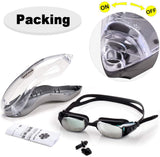 Swimming Goggles for Men with No Leaking, Swim Goggles for Men Women with UV Protection Wide View Adjustable