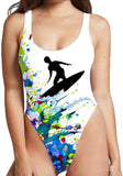 Women' 3D Print Funny Swimwear Monokini Bathing Suit One Piece Swimsuit