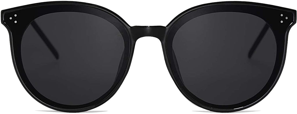 Classic Retro Round Oversized Sunglasses for Women with Rivets