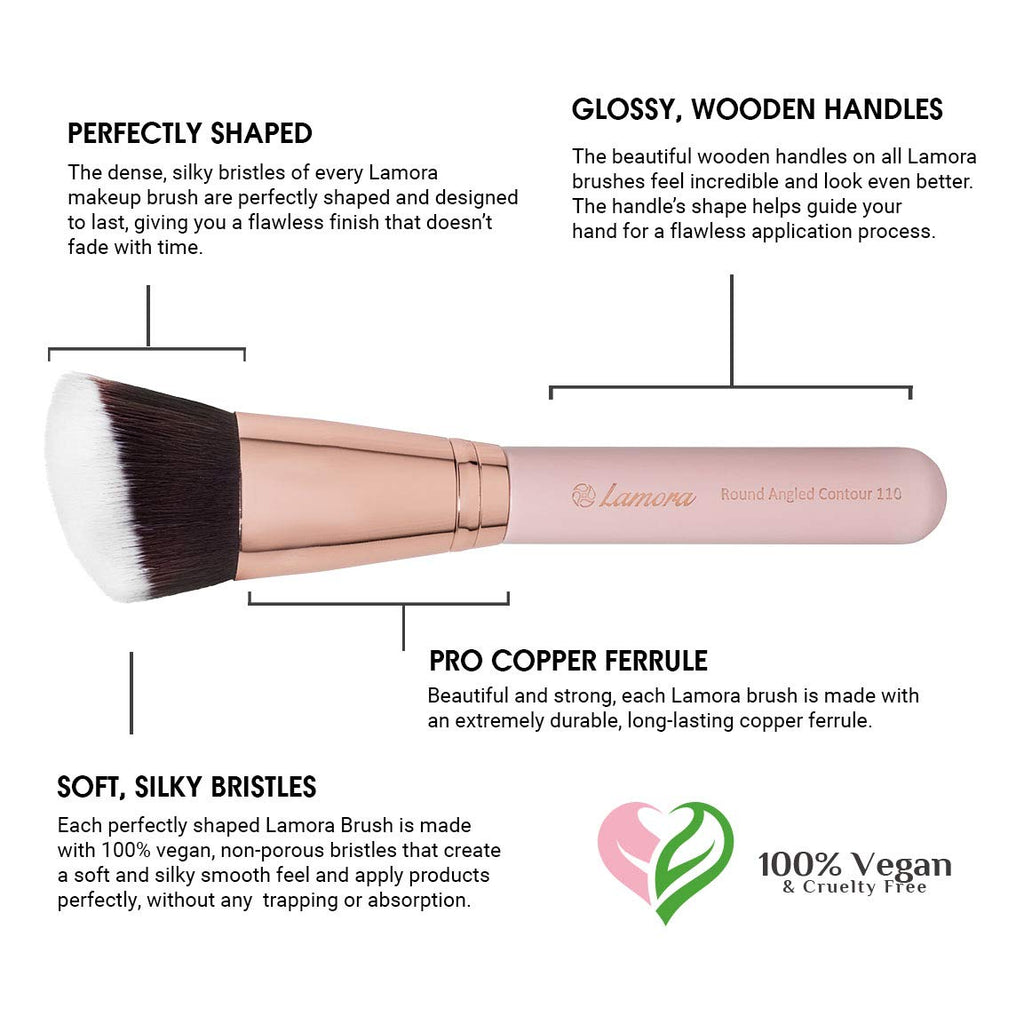 Makeup Brush Flat Top Kabuki for Face - Perfect For Blending Liquid, Cream or Flawless Powder Cosmetics - Buffing, Stippling, Concealer