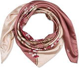 Square Satin Silk Like Lightweight Scarfs Hair Sleeping Wraps for Women