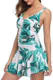 Womens One Piece Swimsuits for Women Floral Print Tummy Control Swimwear Swimdress Slimming Bathing Suit Dress