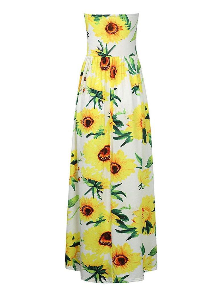 Women's Floral Casual Beach Party Maxi Dress
