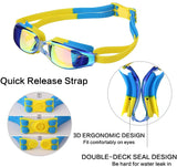Kids Swim Goggles, Swim Goggles for Kids Swimming Goggles with Anti-Fog UV Protection No Leaking Coated Lens