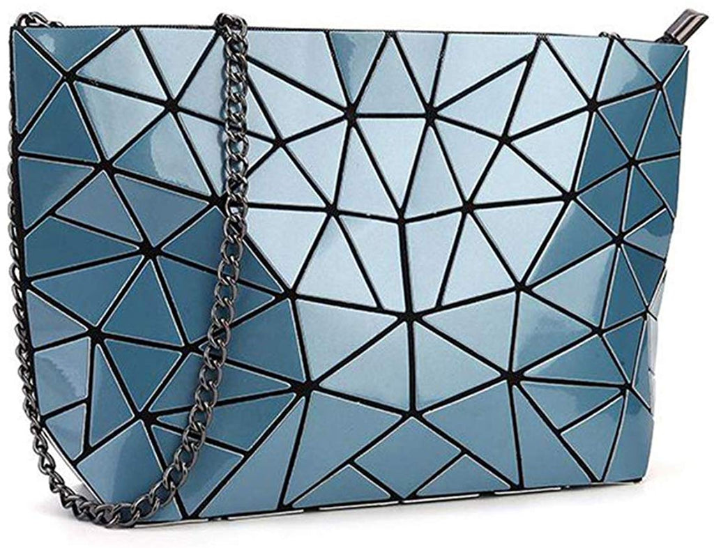 Women Holographic Laser Envelope Clutch Handbag Shoulder Bag Purse