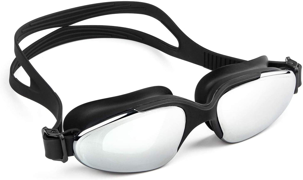 Swimming Goggles,Swim Goggles No Leaking Anti Fog UV Protection Wide View Mirrored Clear Lenses Swim Goggles