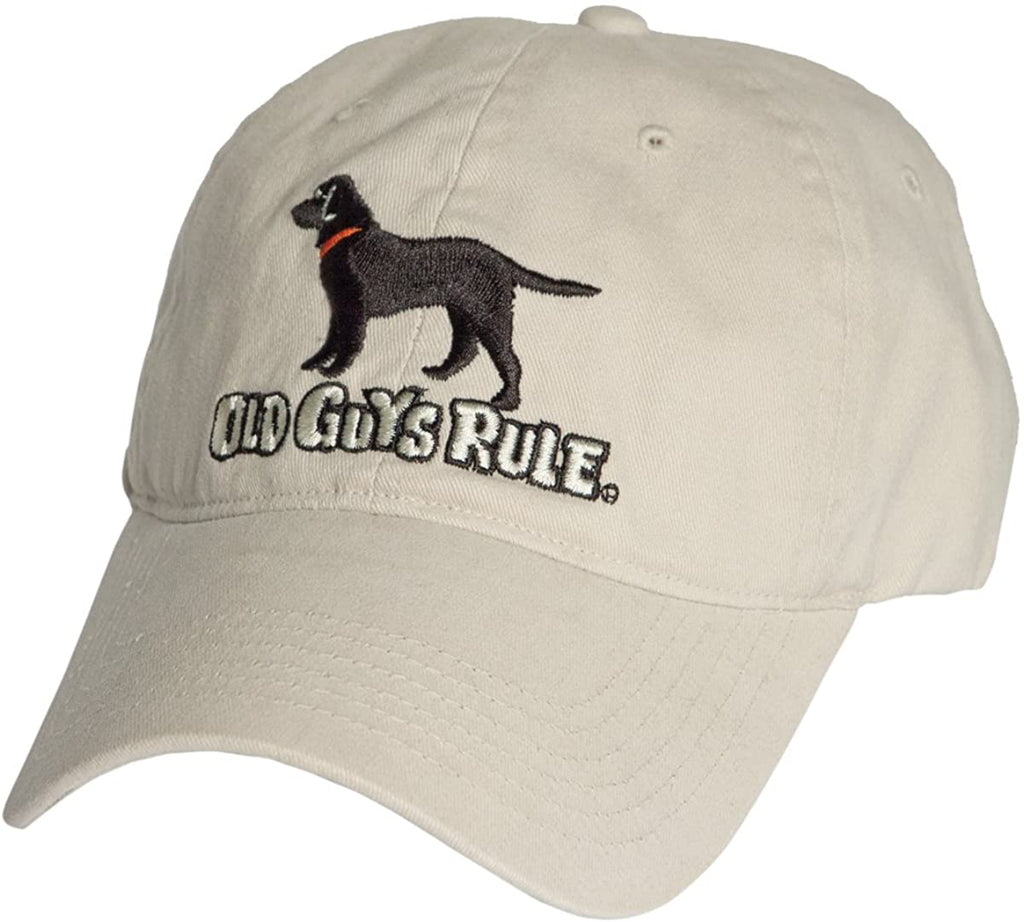 Old Guys Rule Men's Black Lab Hat (One Size)