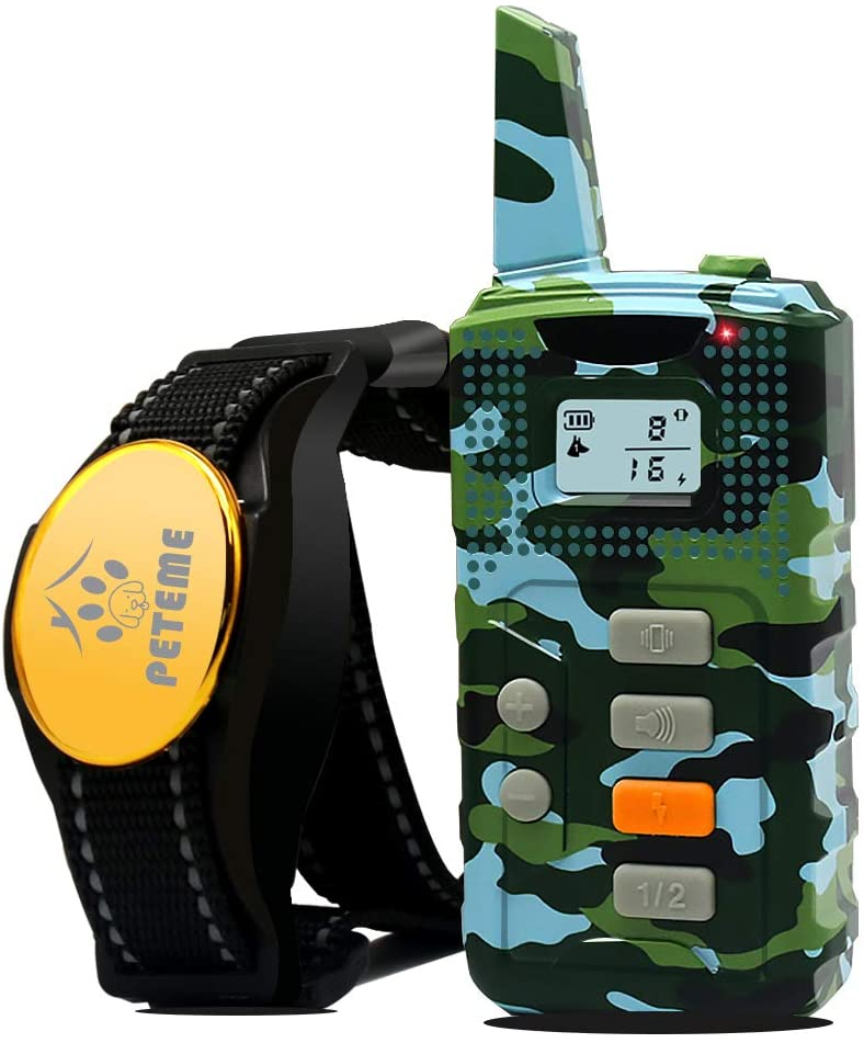 Shock Collar for Dogs, Dog Training Shock Collar Rechargeable with Beep/Vibration/Shock,100% Waterproof