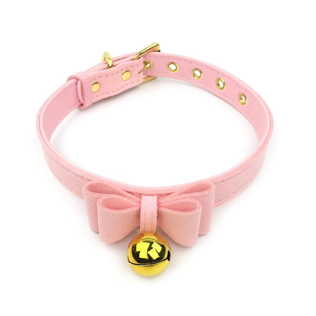 Bell Choker Collar Necklace Lolita Bow Collar Cat Kitty Velvet Necklace