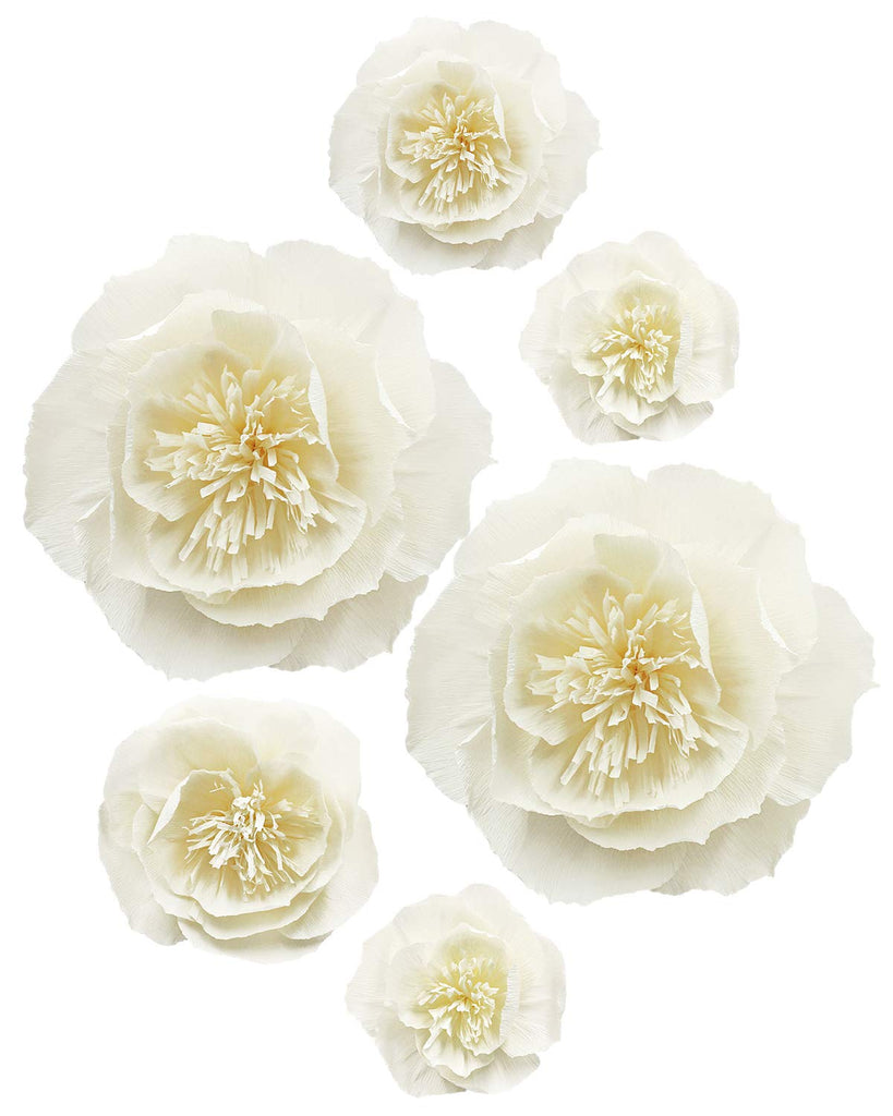Golden Paper Flower Decorations for Party