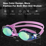 Swimming Goggles, G8 Swim Goggles UV Protection Anti-Fog No Leaking Adjustable Strap Comfort fit for Unisex Adult