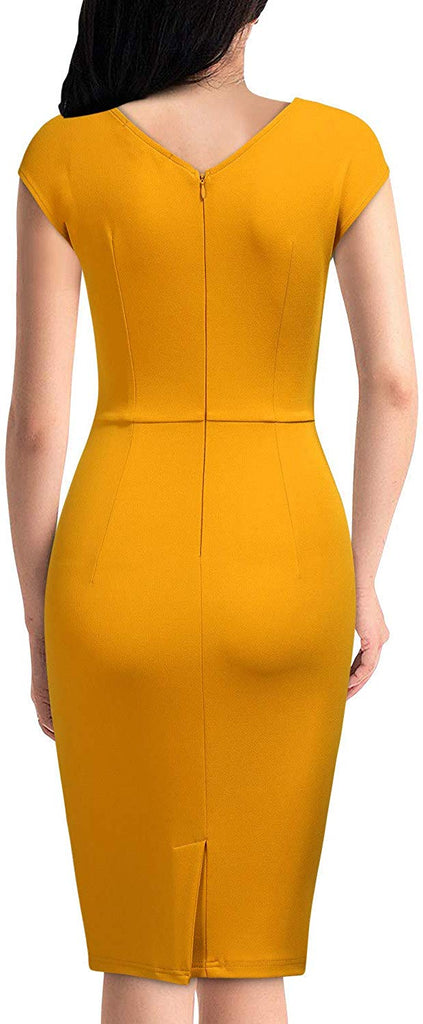 Women's Vintage Slim Style Sleeveless Business Pencil Dress