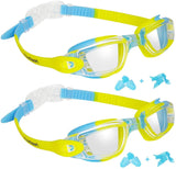 Kids Swim Goggles, Pack of 2 Kids Swimming Goggles, Crystal Clear Swimming Goggles for Children and Teens