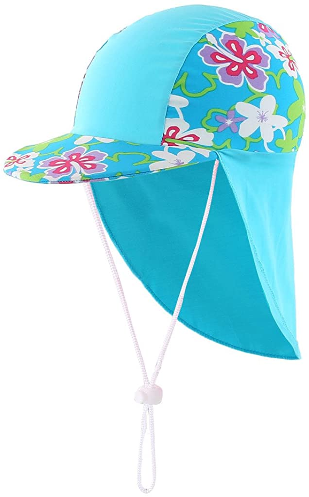 Boys Sun Hat Long Flap Quick Dry Sun Protection Cap Surf Up Swim Hat