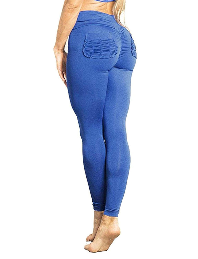 Women Scrunch Butt Yoga Pants Leggings High Waist Waistband Workout Sport Fitness Gym Tights Push Up