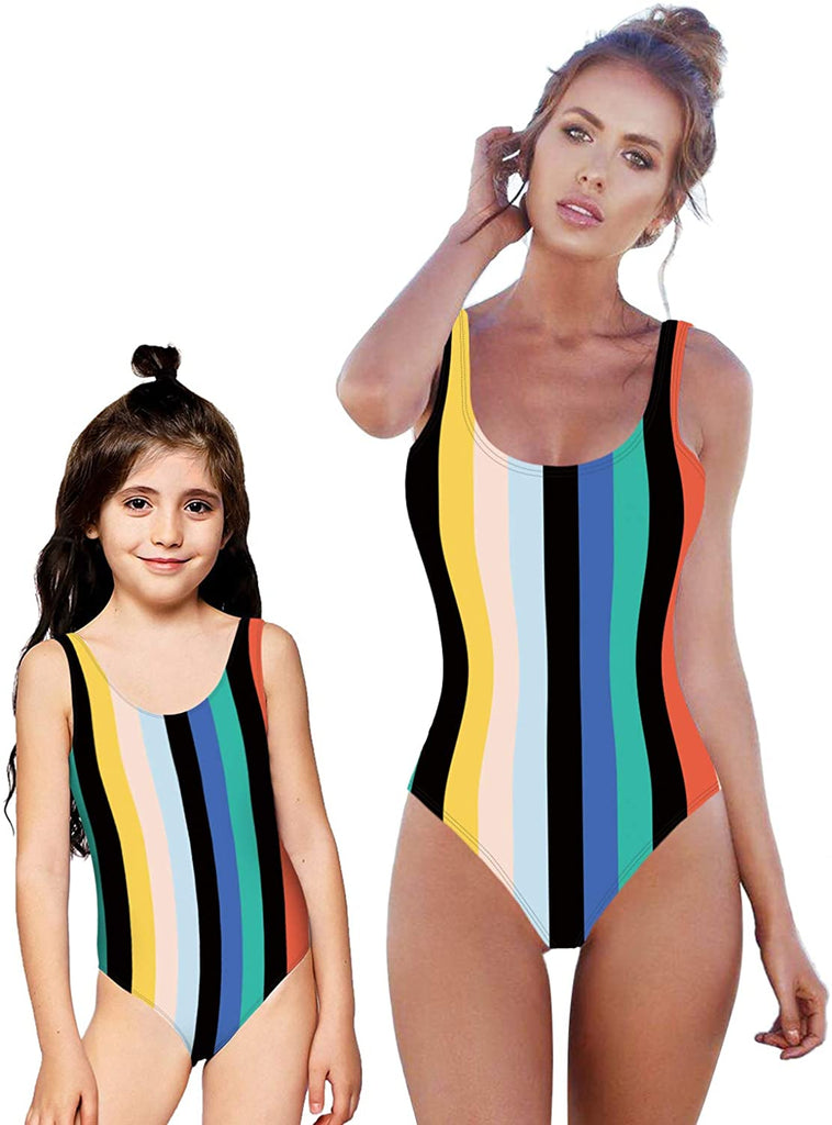 Women's One Piece Swimsuit 3D Print High Waist Monokini Swimwear