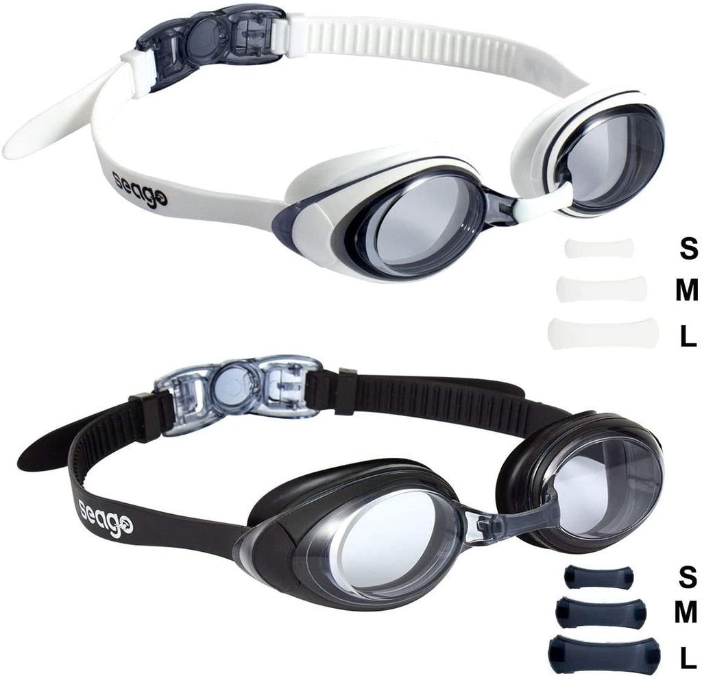 Swim Goggles 2 Pack Updated Swimming Goggles Anti-Fog with UV Protection for Adult Men Women Youth Junior