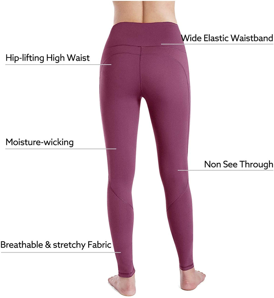 High Waist Workout Leggings Running Pants Womens Yoga Pants with Pockets
