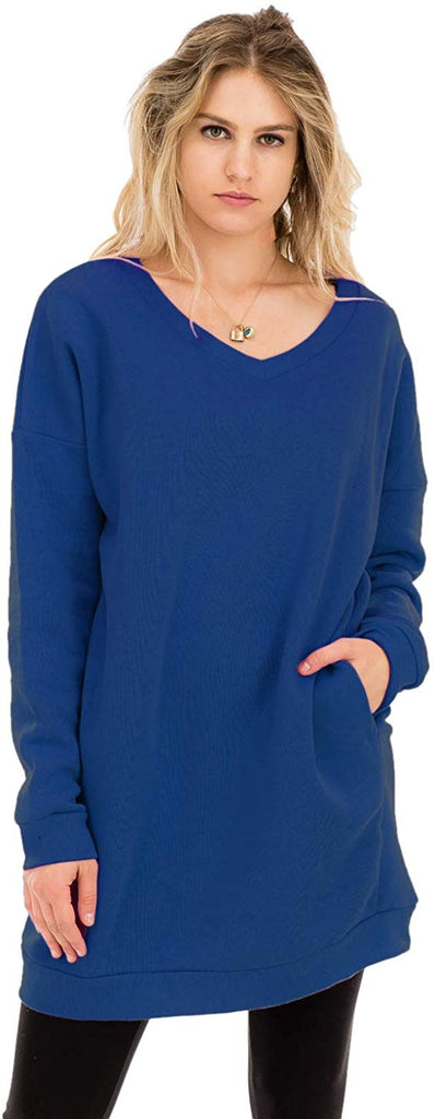 Casual Loose Fit Long Sleeves Over-Sized Sweatshirts for women