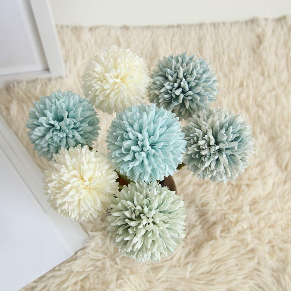 Artificial Flowers, Fake Flowers Silk Plastic Artificial Hydrangea  Home Garden Party Wedding Decoration 6Pcs