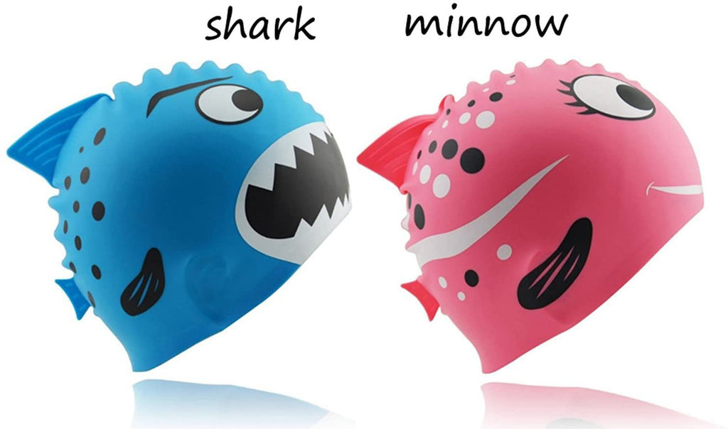 Kids Swimming Cap, Cute Silicone Swim Caps for Kids Boys & Girls
