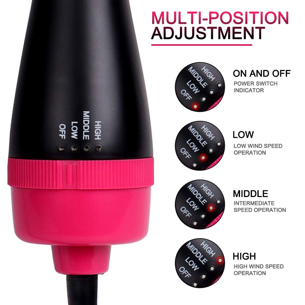 11pcs blow dryer brush one step 3-in-1 Styler Volumizer Multi-function Straightening Curly Fast hair home salon styling