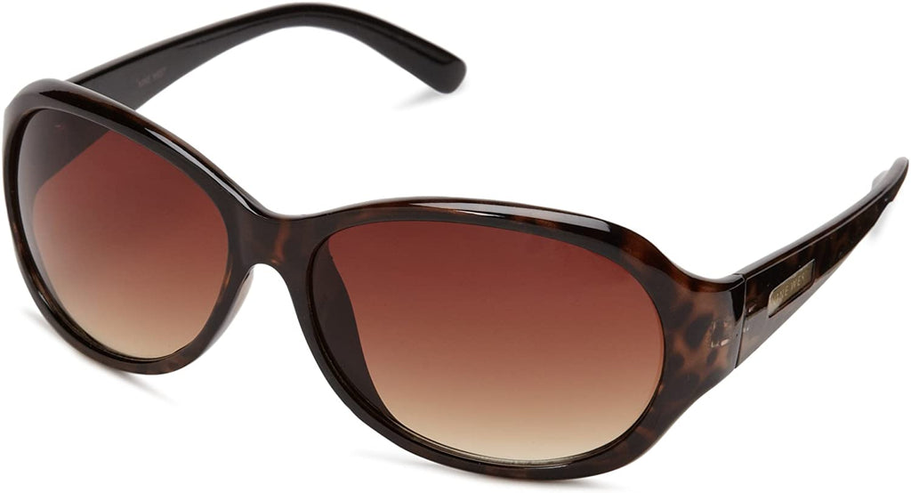 Women's Oval Sunglasses (Tortoise Brown Gradient)