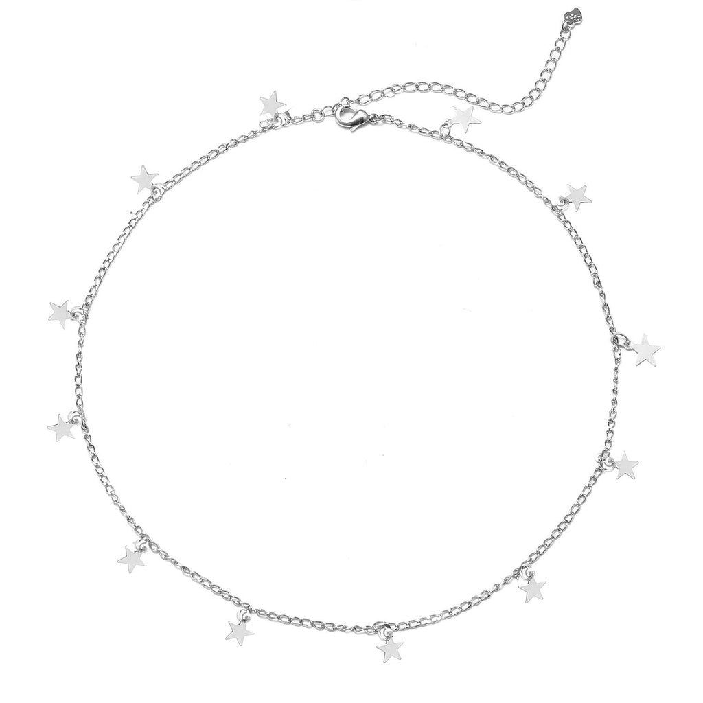 Star Choker Necklace - Butterfly Bead Chain Star Necklace Choker for Girls Necklace Jewelry for women