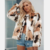 Womens Winter Warm Colorful Faux Fur Coat Chic Jacket Cardigan Outerwear Tops
