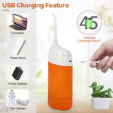 Water Flosser, Portable Oral Irrigator Cordless Teeth Cleaner, Ipx7 Waterproof Power Dental Flossers Professional Care for Home & Travel