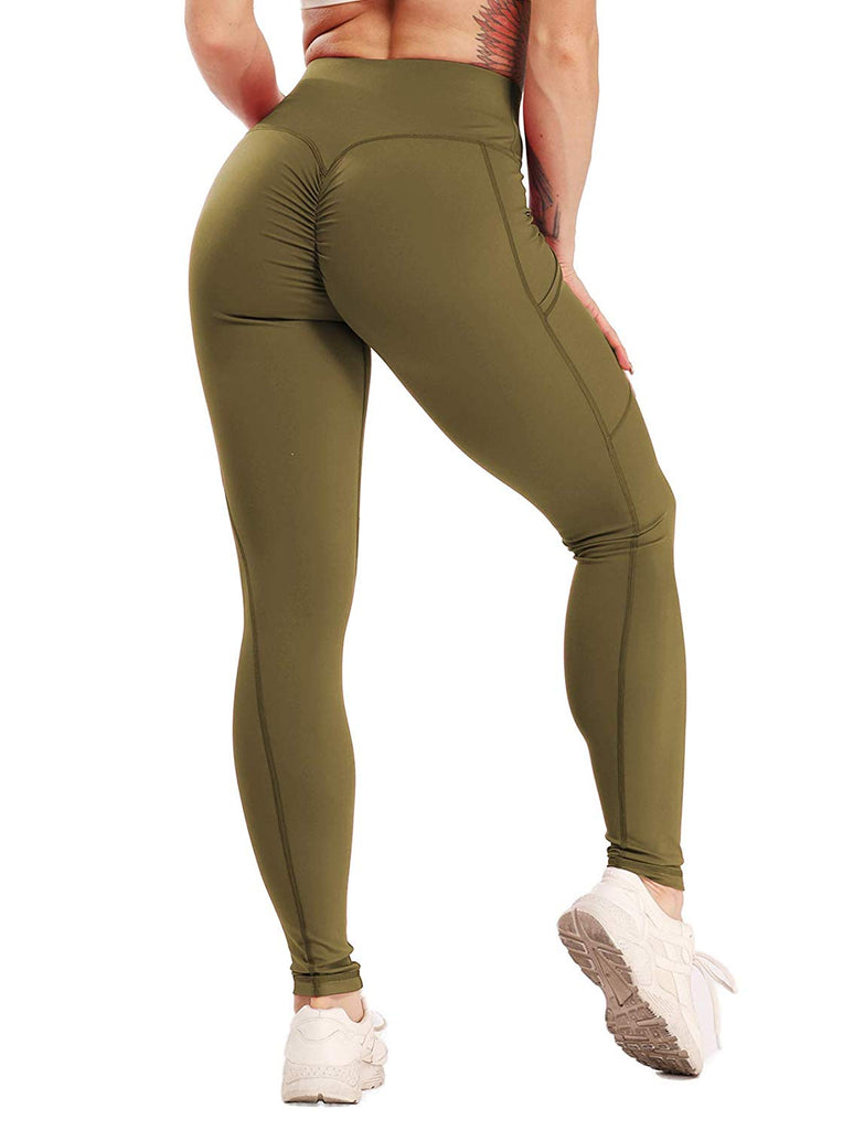 Scrunch Butt Yoga Pants Leggings for women,High Waist Waistband Workout Sport Fitness Gym Tights Push Up