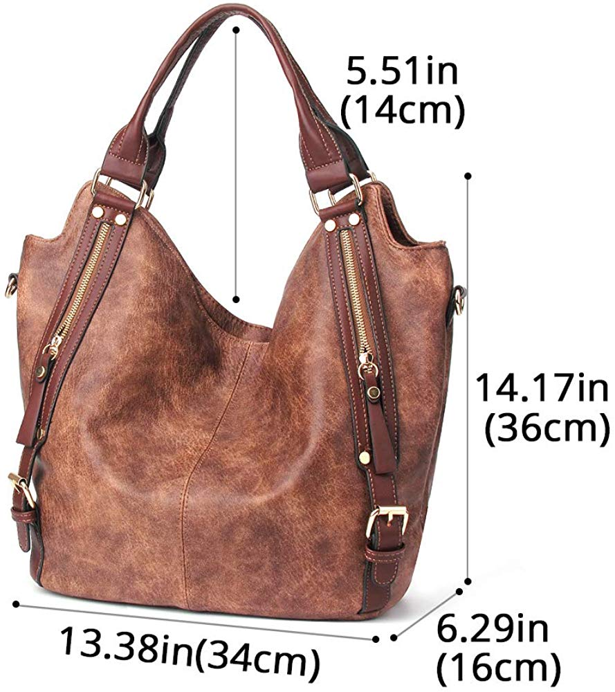 Women Handbags Hobo Shoulder Bags Tote PU Leather Handbags Fashion Large Capacity Bags
