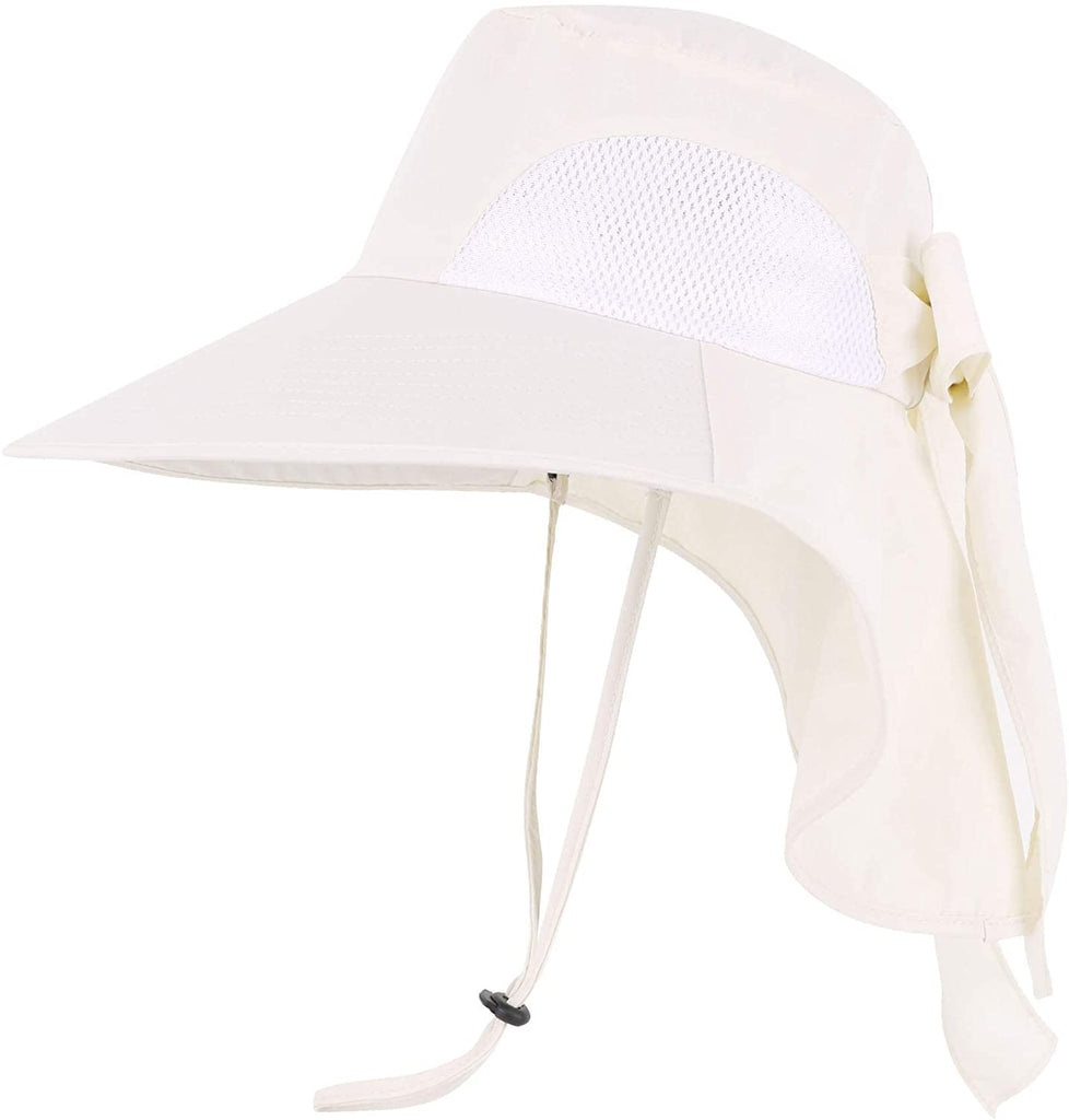 Men/Womens Foldable Flap Cover UPF 50+ UV Protective Wide Brim Bucket Sun Hat