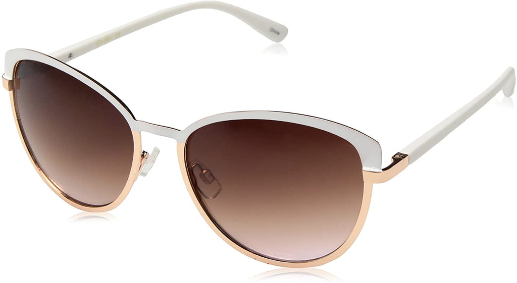 Women's Metal Cat-Eye Sunglasses with Two-Tone Frame and 100% UV Protection, 60 mm