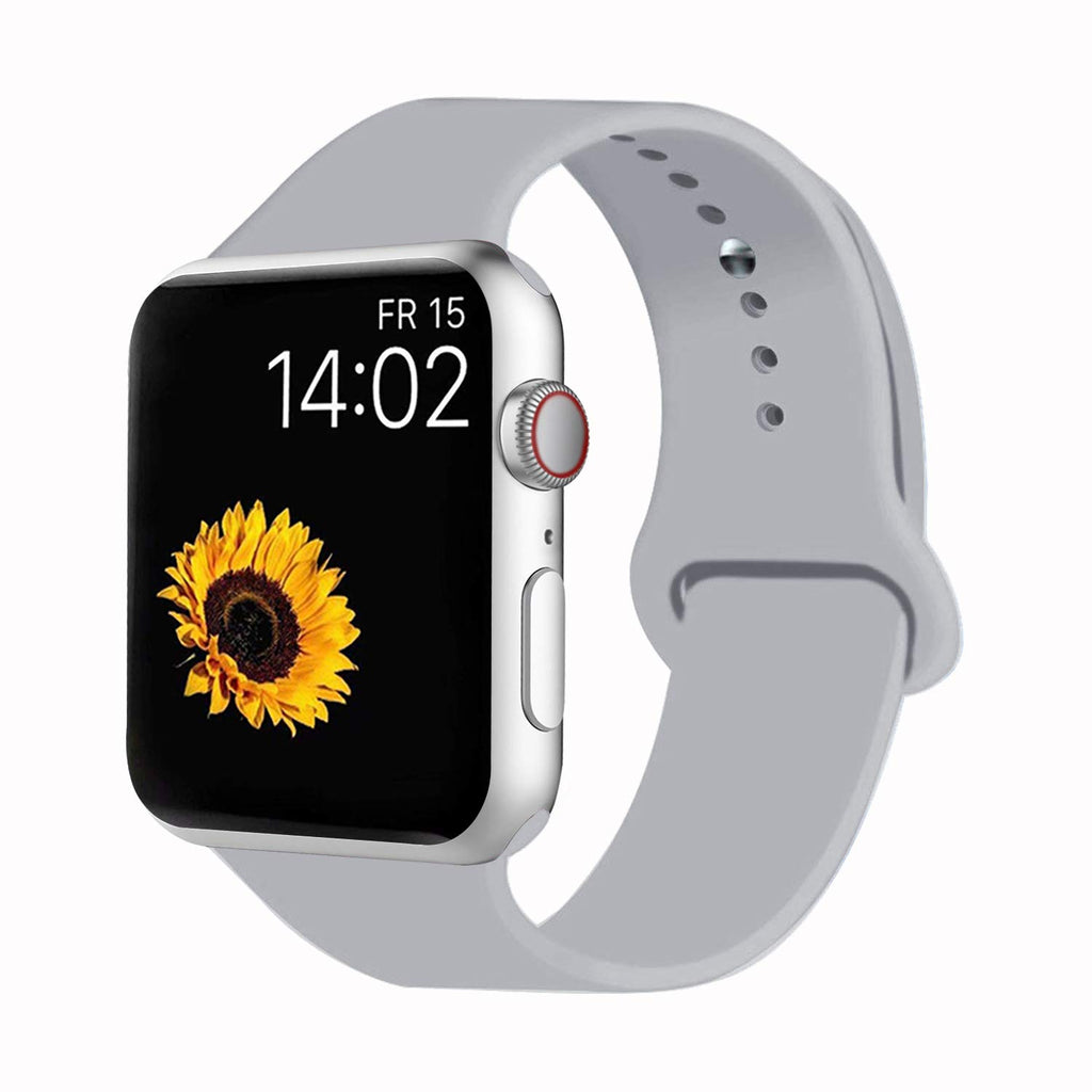 Sport Band Compatible for Apple Watch Band 38mm 40mm 42mm 44mm, Soft Silicone Sport Strap Replacement Bands