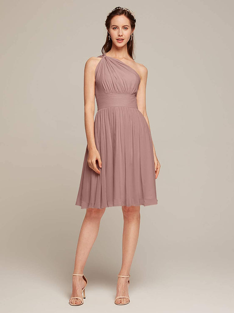 A-line short chiffon dress Bridesmaid Dress Short Cocktail Party Homecoming Dresses