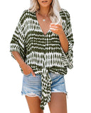 Womens Boho V Neck Printed Chiffon Blouse Casual Plus Size Hippie Top